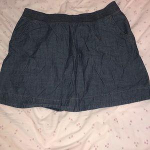 Sonoma Life denim mini skirt.